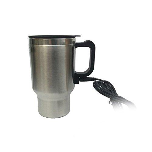 Coffee Cup Car Travel Camper12V Heated Smart Mug Stainless Steel Cigar Lighter 300ml Capacity