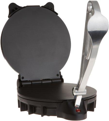 Electric Tortilla Maker- Homemade Flatbread Pitas Tortillas- Heavy Duty Non-stick Cooker Easier than Tortilla Press