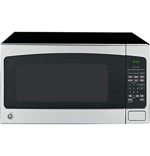 GE 20 Cubic Foot Countertop Microwave Oven Silver Renewed