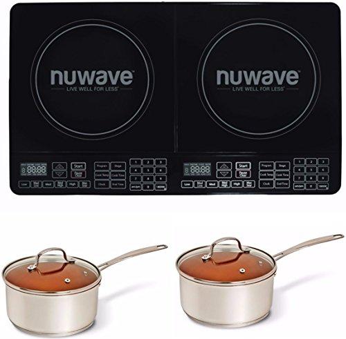 Nuwave Double Precision Induction Cooktop Burner 2 3 qt Ceramic Saucepot