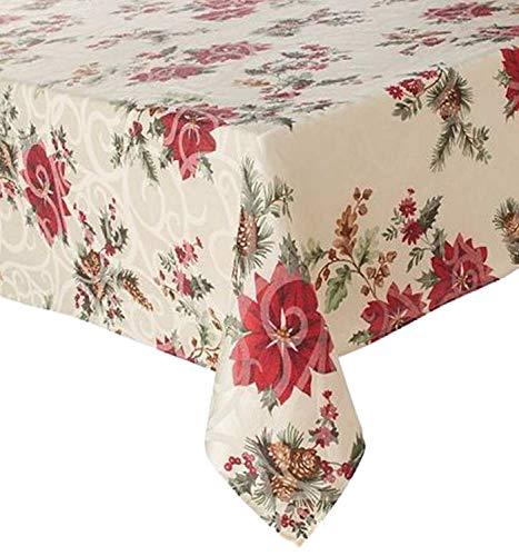 Food Network Juniper Berry Christmas Tablecloth Fabric Table Cloth 60x84 Ob