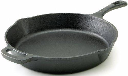 T-fal E83407 Pre-seasoned Nonstick Durable Cast Iron Skillet / Fry Pan Cookware, 12-inch, Black