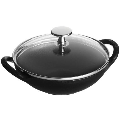 Staub Cast Iron 1311723 Baby Wok 05-quart Black Matte