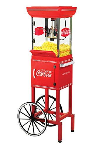 Nostalgia CCP399COKE Coca-Cola 25-Ounce Popcorn Cart - 48 Inches Tall