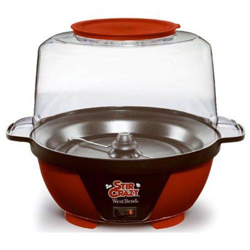 West Bend 82505 Stir Crazy Popcorn Popper 6-Quart