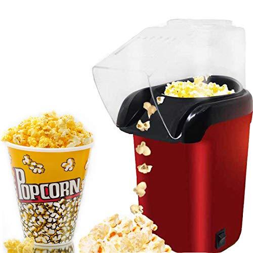 Air Popcorn Popper 1200W Mini Household Healthy Hot Air Oil-Free Popcorn Maker Machine Corn Popper for Home KitchenUS