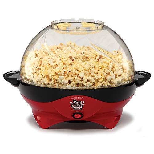 West Bend 8231 Stir Crazy Deluxe Electric Hot Oil Popcorn Popper Machine Red