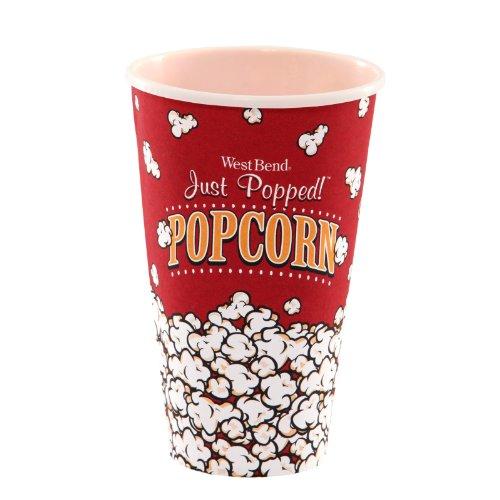 West Bend PC10627 1 Reusable Theater Popcorn Bucket Dishwasher-Safe 1-Quart Red