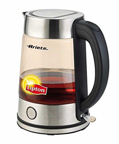 Ariete Lipton 2872 Modern Cordless Electric Glass Tea Kettle 1.7 Liter