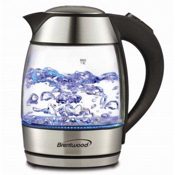 Brentwood Appliances Kt-1950bk Tempered Glass Tea Kettles, 1.8-liter, Black