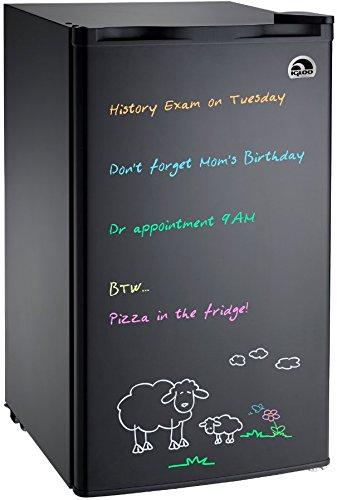 Igloo FR326M-D-BLACK Erase Board Refrigerator with Neon Markers 32 cu ft Black
