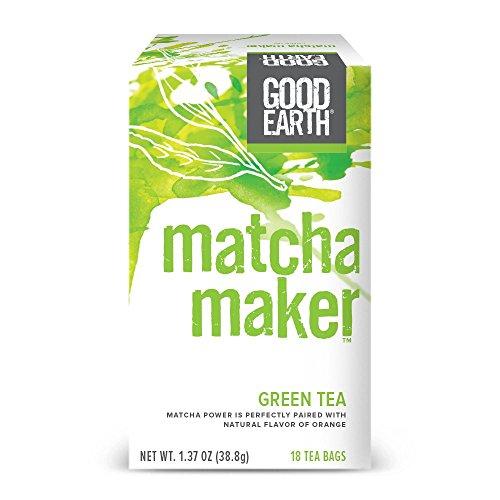 Good Earth Green Tea Matcha Maker 18 Count Tea Bags Pack of 6