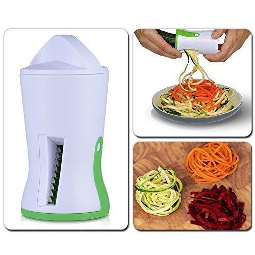 Vegetable Spiralizer Zucchini Spaghetti Pasta Noodle Maker Spiral Veggies Slicer for Potato Carrot with Three Steel Blades Kitchen Tool