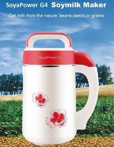 Soyapower G4 Soy Milk Maker Almond Maker Rice Milk Maker Quinoa Milk Maker and Soup Maker - New Model All Stainless Steel Inside