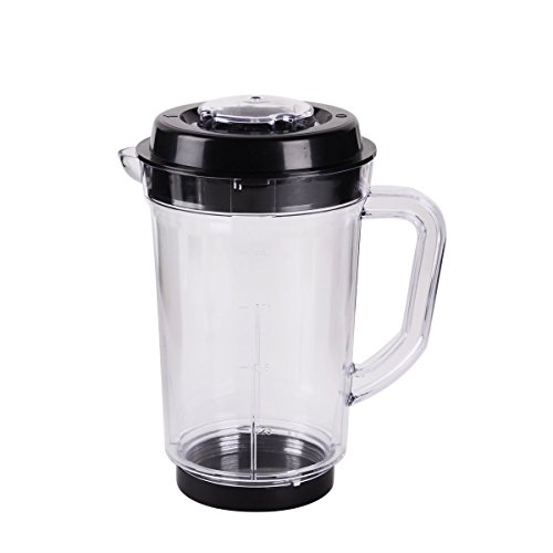 Replacement Pitcher for Magic Bullet Blender Juicer by KORSMALL,24 oz Capacity Mixer Clear Soybean Milk Cup with Lid Base for Magic Bullet-1 Pack