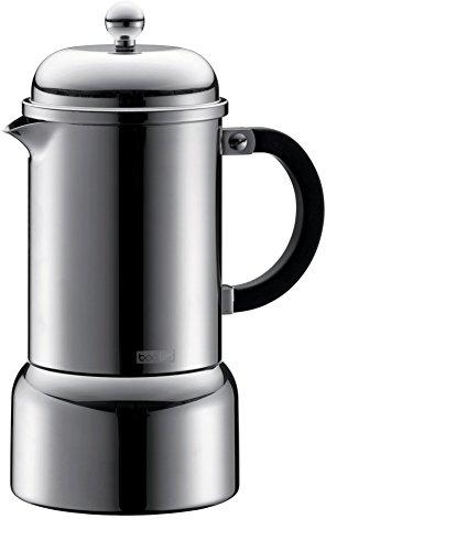 Bodum Chambord 12-Ounce Stainless-Steel Stovetop Espresso Maker