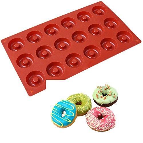 Allforhome(tm) 18 Savarin Donut Silicone Cake Baking Mold Cake Pan Biscuit Cookie Doughnut Diy Molds