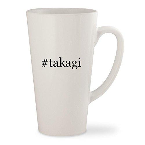 takagi - White Hashtag 17oz Ceramic Latte Mug Cup