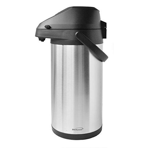 Brentwood CTSA-3500 35-Liter Airpot Hot Cold Drink Dispenser Stainless Steel
