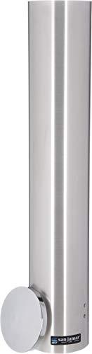 San Jamar C4400PF Stainless Steel Pull Type Foam Cup Dispenser 23-12 Length