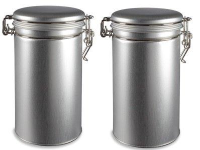 Nakpunar 2 pcs Airtight Tea Coffee Tins with Latch