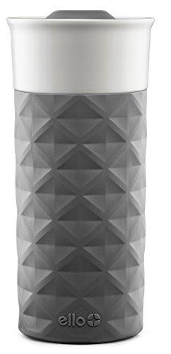 Ello Ogden BPA-Free Ceramic Travel Mug with Lid Grey 16 oz