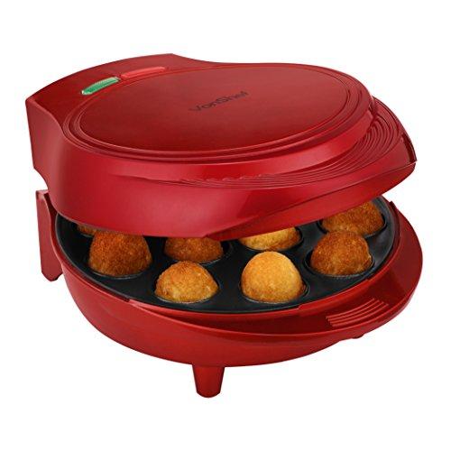 VonShef 12 Cake Pop Maker Machine Set Includes Sticks Stand - Red