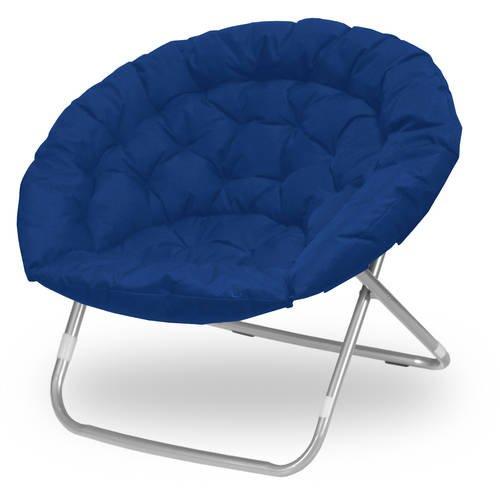 Urban Shop Oversized Saucer Chair Navy