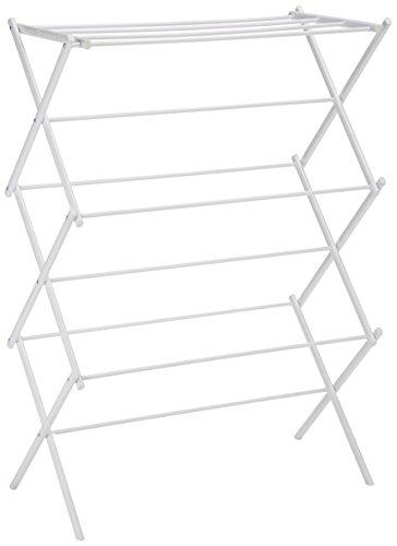 AmazonBasics Foldable Clothes Drying Laundry Rack - White
