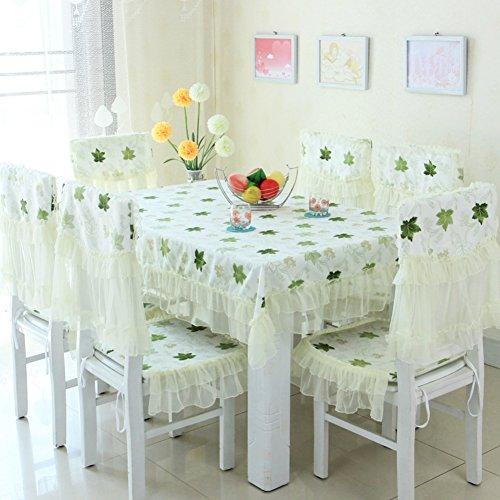 Pastorale CoffeeTea Table TableclothEuropean Table-clothFabric Rectangular Chair Set Cushion Set Dining Chair Cushion-H 130x130cm51x51inch