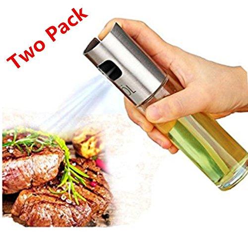 Olive Oil Sprayer Portable Kitchen Grill Cooking Oil Trigger Sprayer Bottle for BBQCookingVinegarTwo Packs