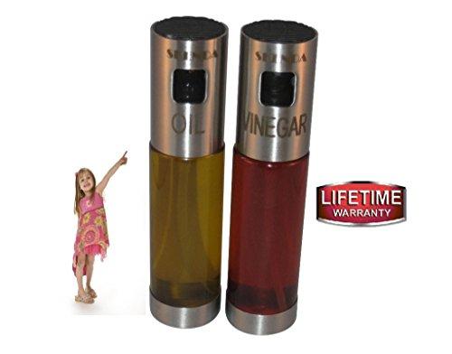 Skenda Glass Oil and Vinegar Dispenser SprayersReplaces Salad BottlesCruet - Free E-books  5  Perfect Oil Sprayer For Cooking Olive Oil Sprayer - Not Need Pre-Pump As Misto Olive Oil Sprayer