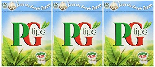 PG Tips 160 Bags 3 Pack 480 Bags Total