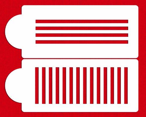 Designer Stencils C236 Plaid Cake Stencil Beigesemi-transparent