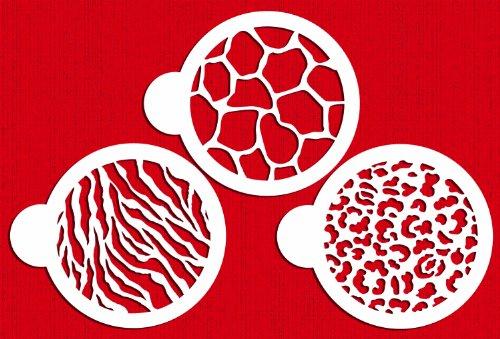 Designer Stencils C473 Cookie Stencil Animal Skins 4-Inch BeigeSemi-Transparent