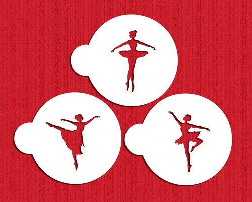 Designer Stencils C889 Ballerina Cookie Stencil Set BeigeSemi-Transparent