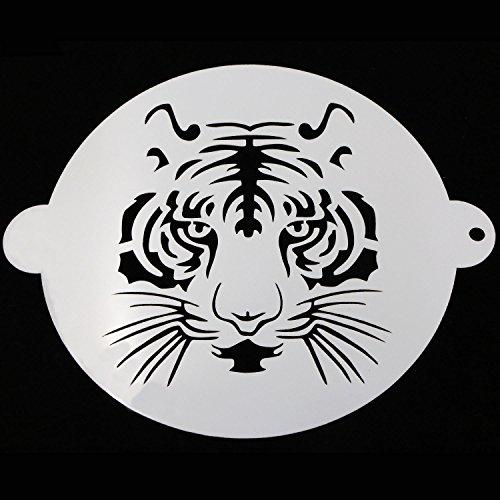 Sunglory 8 Round Tiger Cake Stencils