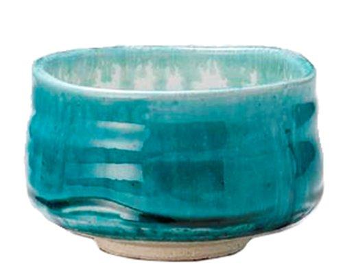 Mino-yaki Matcha Tea Bowl Turquoise Blue Japan Import