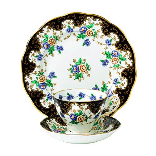 Royal Albert 3 Piece 100 Years 1910 Teacup Saucer Plate Set 8 Multicolor