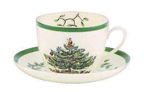 Spode Christmas Tree Teacup and Saucer