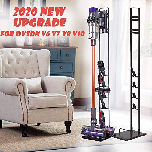 Foho Vacuum Stand for DysonStable Metal Storage Bracket Stand Holder for Dyson Handheld V6 V7 V8 V10 DC30 DC31 DC34 DC35 DC58 DC59 DC62 Cordless Vacuum Cleaners Accessories Attachments Black