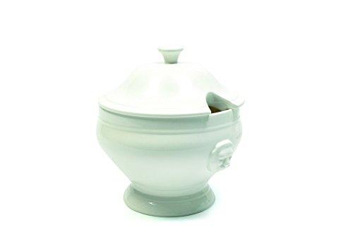 White Basics Collection Lion Soup Tureen White