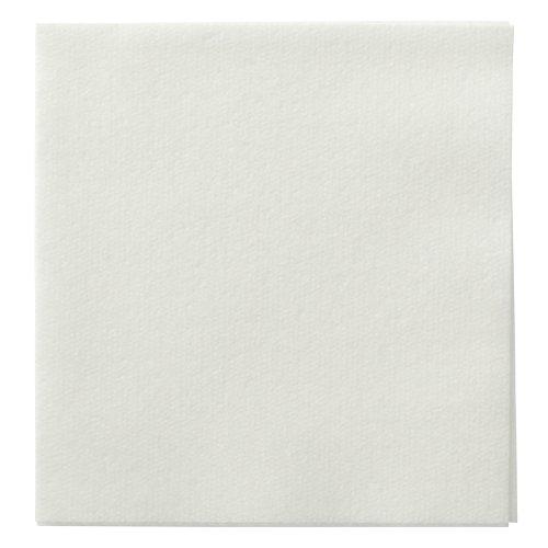 Hoffmaster 046115 Linen-Like Beverage Napkin Unembossed 14 Fold 10 Length x 10 Width White Case of 1000