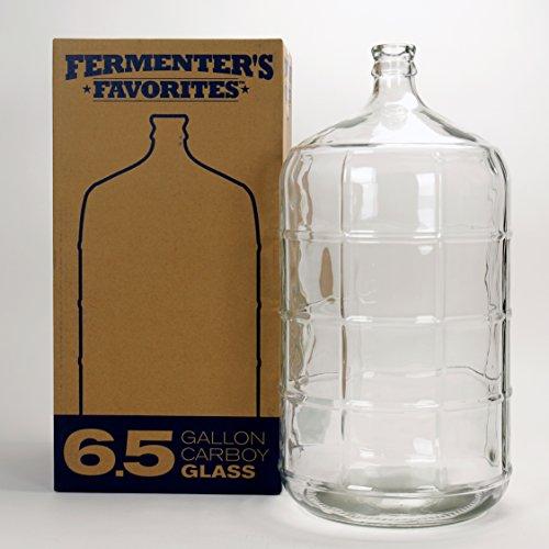 Fermenters Favorites 65 Gallon Glass Carboy Fermenter for Home Brewing Beer Wine Making Hard Cider fermentation
