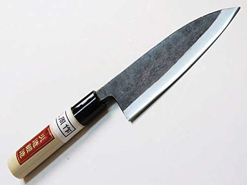 AZUMASYUSAKU Deba Hocho Kitchen Knife 150mmabt 59 Inch Double Bevel Blade Edge  Aogami Steel Tosa Kurouchi