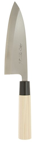Kotobuki High Carbon Left Handed Japanese Deba Knife 165mm Silver