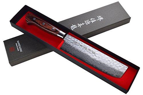 Damascus Steel Usuba Japanese Kitchen Knife 65