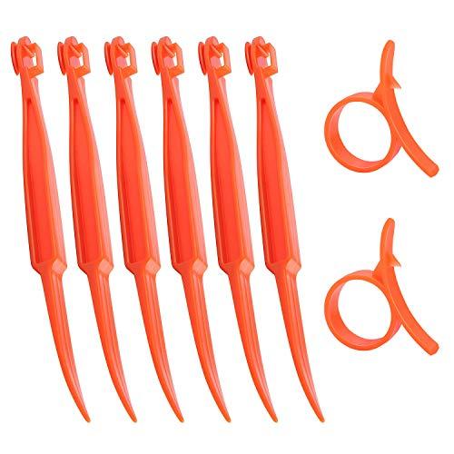 SS SHOVAN Orange Citrus Peeler Kitchen Tool Safe Plastic Easy Fruit Slicer Cutter Peeler 62 Pack