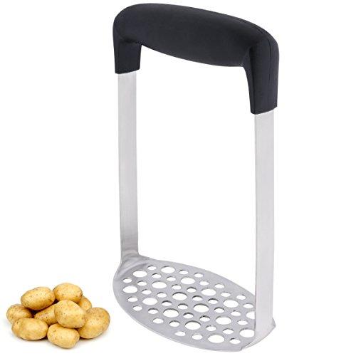 Flytt Stainless Steel Potato MasherBest Potato Ricer with Horizontal Handleto Smooth Mashed PotatoesVegetables and Fruits