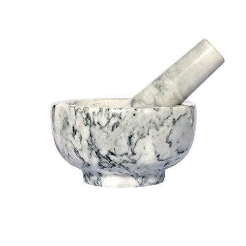 Kota Japan Marble Mortar Pestle Stone Grinder for Spices Seasonings Pastes Pestos and Guacamole